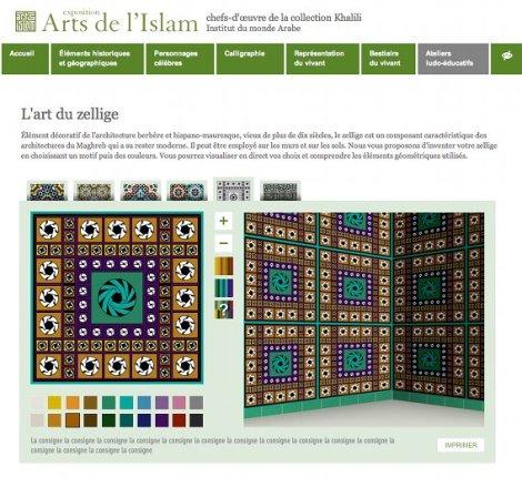 2013 01 Expo arts de l'Islam atelier du zellige